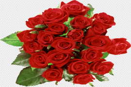 Red Rose Bouquet PNG Clipart
