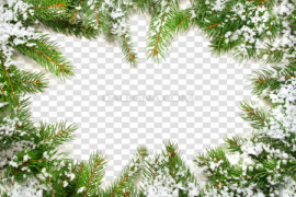 Christmas Ornaments Frame PNG Pic