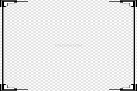 White Border Frame PNG Transparent Picture