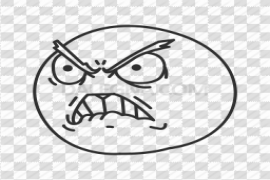 Angry Face Meme PNG Transparent Picture