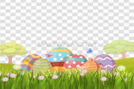 Easter Egg Grass PNG Picture