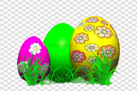 Grass Easter Egg PNG Clipart
