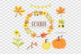 Hello October PNG Image