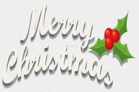 Happy Christmas Text PNG Transparent Image
