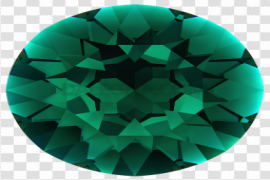 Round Emerald Stone PNG Pic