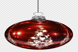 Red Christmas Bauble PNG Photos