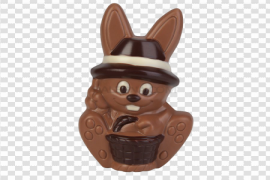 Easter Bunny Chocolate Background PNG