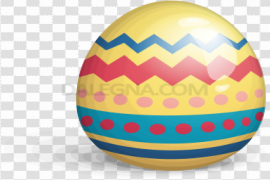 Colorful Easter Eggs PNG Transparent Image
