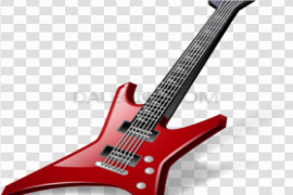 Acoustic Red Guitar PNG Photos