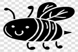 Bee Cute Insect PNG Transparent Image