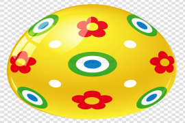 Yellow Easter Egg PNG Transparent Picture