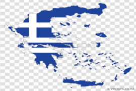 Map Greece Flag PNG Image