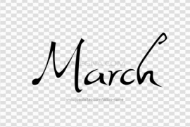 March PNG Transparent Picture