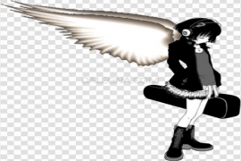 Angel Anime Girl PNG Free Download