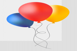 Colorful Bunch of Balloons PNG Transparent Image