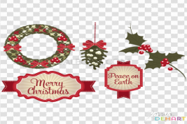 Christmas Elements PNG File