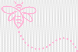 Pink Bee Trail Path PNG