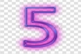 Stylish Number PNG Transparent Picture