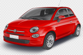 Red Fiat PNG Transparent Picture