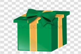 Green Christmas Gift Background PNG