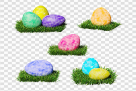Decorative Colorful Easter Egg PNG Photos