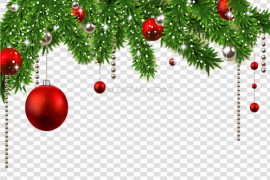 Christmas Ornaments Frame PNG Photos