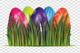 Easter Egg Grass PNG Clipart
