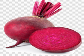 Red Beetroot Sliced Root Transparent PNG