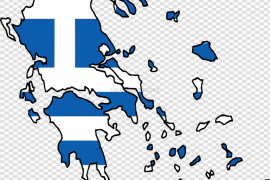 Map Greece Flag PNG File