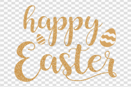 Happy Easter Logo Word PNG File