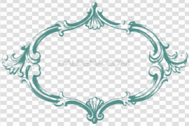 Rectangle Teal Frame PNG Pic
