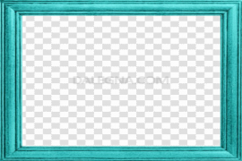Teal Frame Clipart PNG HD