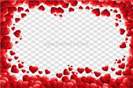 Valentines Day Border Red PNG