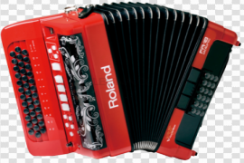 Red Accordion PNG HD