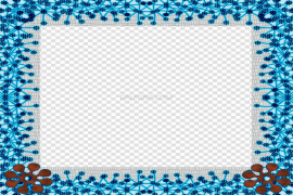Square Teal Frame PNG Photos