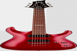 Red Electric Guitar Background PNG