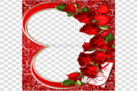 Heart Romantic Frame PNG Clipart