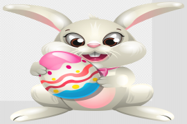 Cute Easter Bunny Transparent PNG