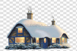 Christmas House PNG Free Download