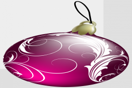 Colorful Christmas Ornaments PNG Photo