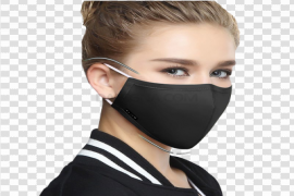 Anti-Pollution Black Mask PNG Image