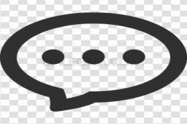 Speech Chat Icon PNG Transparent Image