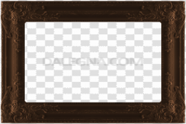 Empty Brown Frame PNG Image