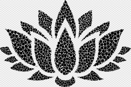 Single Flower Silhouette PNG File