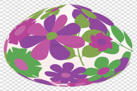Decorative Purple Easter Egg PNG Pic