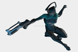 Sci Fi Warrior PNG Image