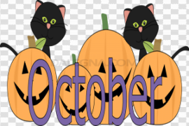 October PNG Picture