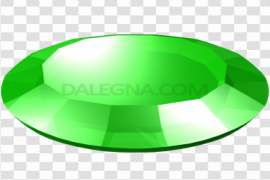 Round Emerald Stone PNG File