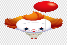 Pennywise Balloon PNG Transparent Image