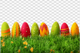 Grass Easter Egg PNG Transparent Picture